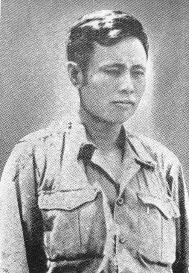 Bogyoke Aung San as a member of the Burma National Army. (April 1942)